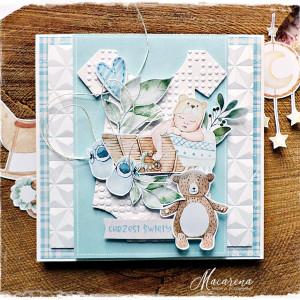 Błękitny Chrzest - kartka dziecięca