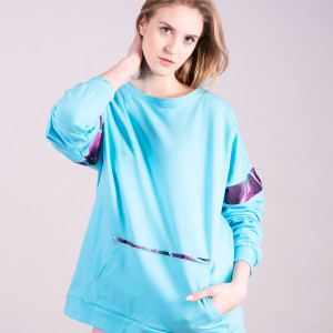 Bluza Damska Basic Niebieska