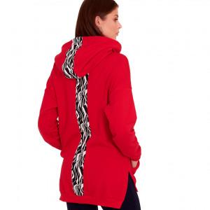 Bluza dresowa Ewa kolor czerwony