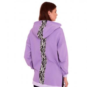 Bluza dresowa Ewa kolor fioletowy