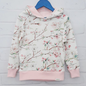 Bluza kwiaty jabłoni z kieszenią 122 - 134