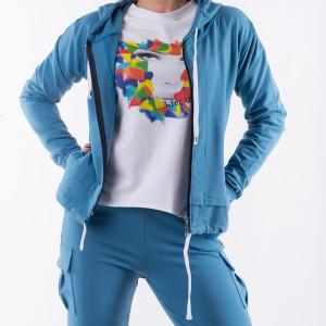 Bluza niebieska total stick
