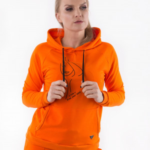 Bluza pomarańczowa   z nadrukiem   3foru