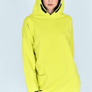 Bluza z kapturem Nela kolor rzeźka limonka