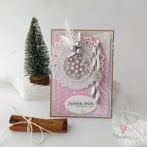 Bombka - kartka świąteczna-słodkie święta