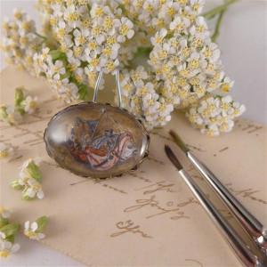 Bosch, Ręcznie malowana broszka, miniatura