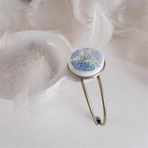 Bransoletka  porcelana w kwiatki, ręcznie malowana