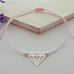 Bransoletka Diament Srebro 925
