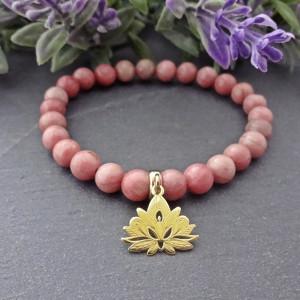 Bransoletka Kwiat Lotosu Rodonit