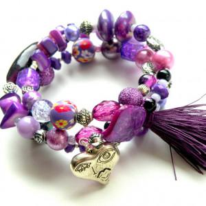 Bransoletka Misz-Masz Purple