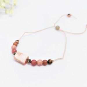Bransoletka mocy: różowy opal, rodonit, turmalin