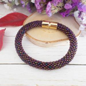 Bransoletka Mono purpurowa