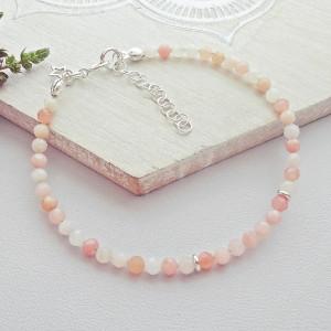 Bransoletka Opal różowy Srebro 925