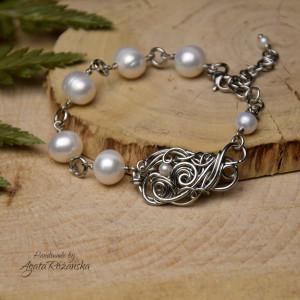 Bransoletka regulowana perły hodowane