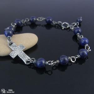 Bransoletka różańcowa - Lapis lazuli