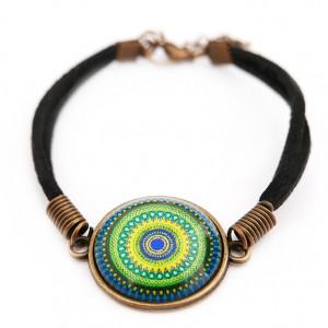 Bransoletka szczęścia mandala etno boho hippie n6