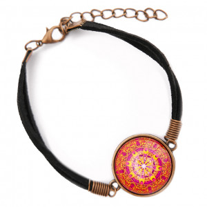 Bransoletka szczęścia Mandala Piękna etno boho