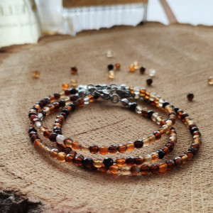 Bransoletka z brązowym agatem - Autumn Forest