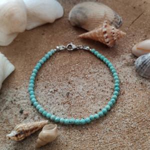 Bransoletka z magnezytem - Ocean Blue
