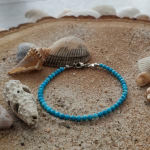 Bransoletka z magnezytem - Ocean Blue II