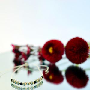 Bransoletka z pereł i kamieni 2