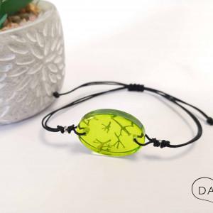 Bransoletka z zielonym chrobotkiem