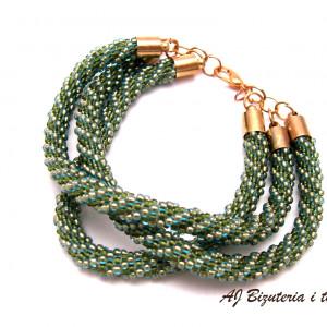 Bransoletka zielone węże