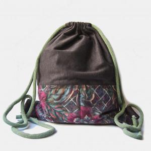 Brązowy plecak z dzianiny