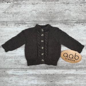 Brązowy sweterek rozmiar 74