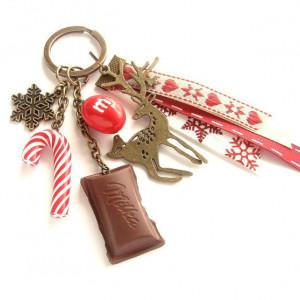 Breloczek świąteczny z jelonkiem
