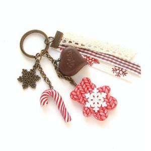 Breloczek ze Świątecznym Sweterkowym Misiem