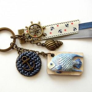 Brelok Marynarski z Rybką