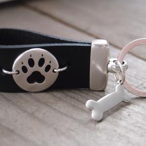 Brelok skórzany do kluczy - dog