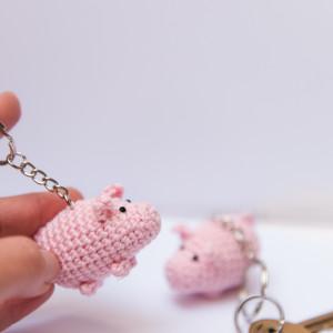Brelok świnka do kluczy