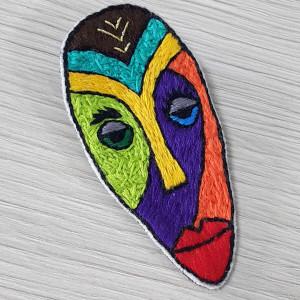 Broszka haft pop art face 5