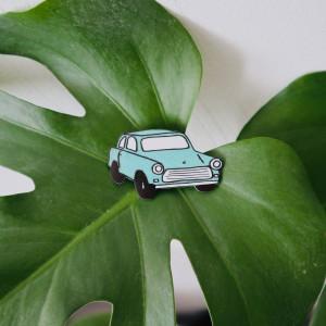 Broszka zielony trabant