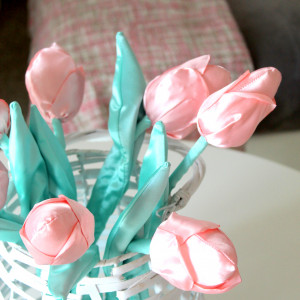 Bukiet tulipanow XL satynowych 7 szt