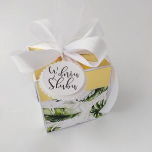 Butelkowa zieleń  - pudełko na ślub