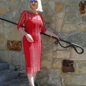 Carmen - sukienka ażurowa