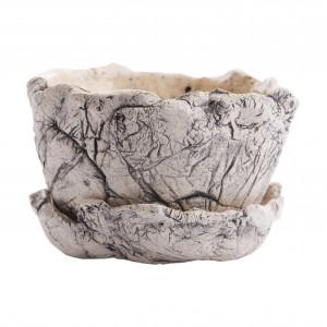 Ceramiczna donica M nakrapiana