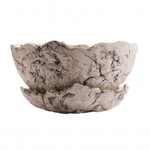 Ceramiczna donica XL nakrapiana