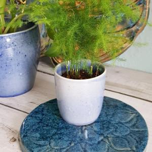 Ceramiczna podstawka pod kadzidło, świece, kwiatek