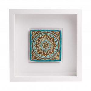 Ceramiczny kafelek orientalny w ramce