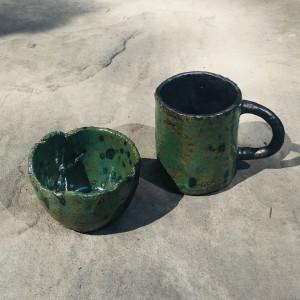 Ceramiczny kubek i miseczka