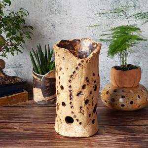 Ceramiczny lampion seria NATURA, wazon na susz