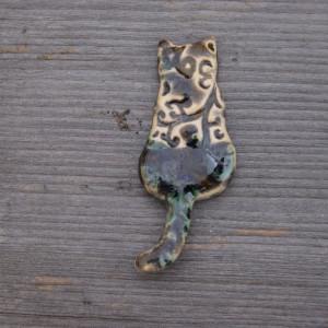 Ceramiczny magnes kot ornament