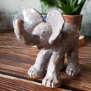 Ceramiczny słoń, słonik na szczęście