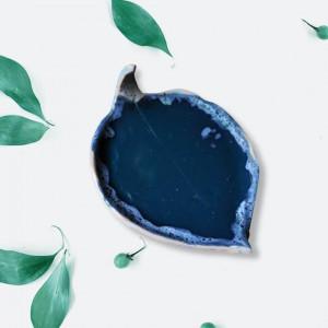 Ceramiczny Talerz Liść Kiwi Turkus na biżuterię
