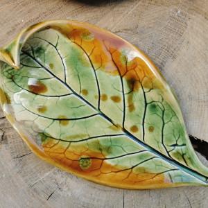 Ceramiczny talerzyk liść (c283)