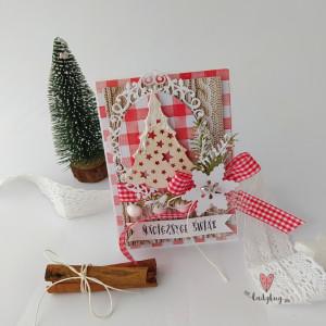 Choinka - kartka świąteczna